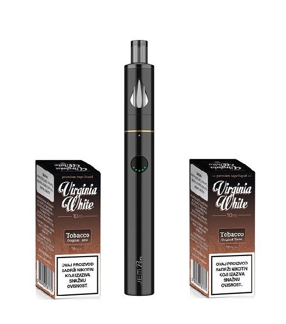 E-cigareta INNOKIN Jem Pen, black+ Virginia White Original Taste 12mg i Original Taste 18mg