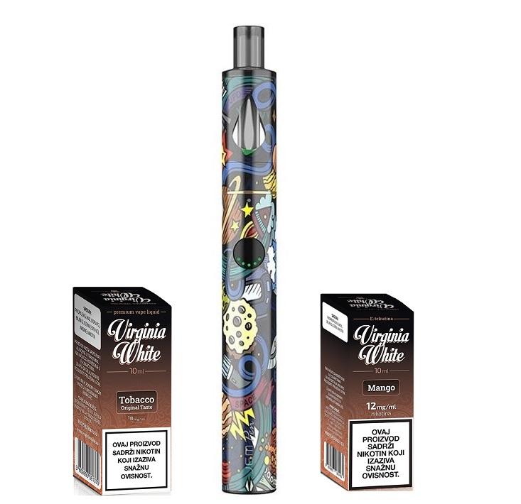 E-cigareta INNOKIN Jem Pen, cosmos+ Virginia White Mango 12mg i Original Taste 18mg