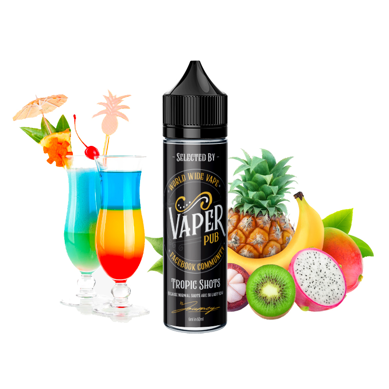 Shake&Vape VAPER PUB Tropic Shots 6/60 ml